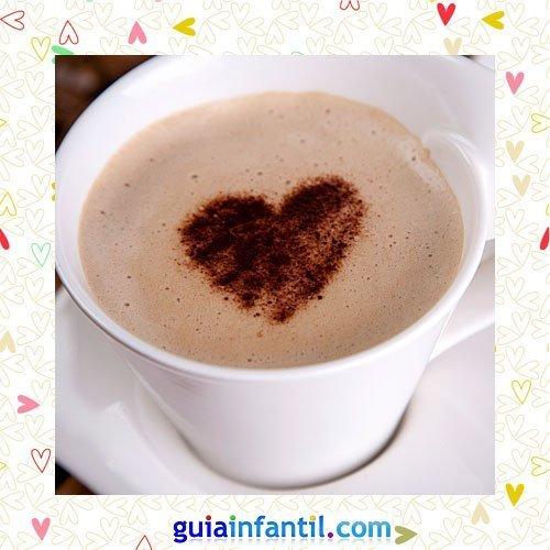 Café con leche. Recetas dulces de corazón