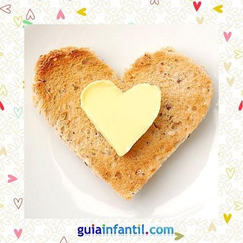 Tostada con queso. Recetas saladas con corazón