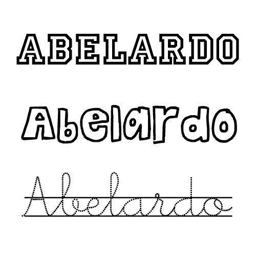 Abelardo. Nombres para niños