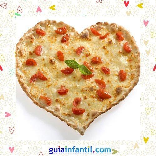 Pizza con tomate. Recetas saladas con corazón