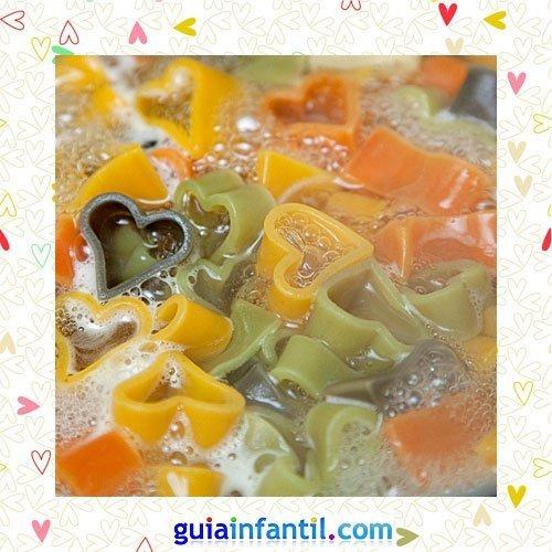 Pasta de colores. Recetas saladas de corazón