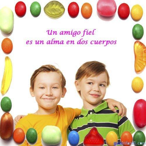 Frases De Amistad Para Ninos Abrazo De Amigos