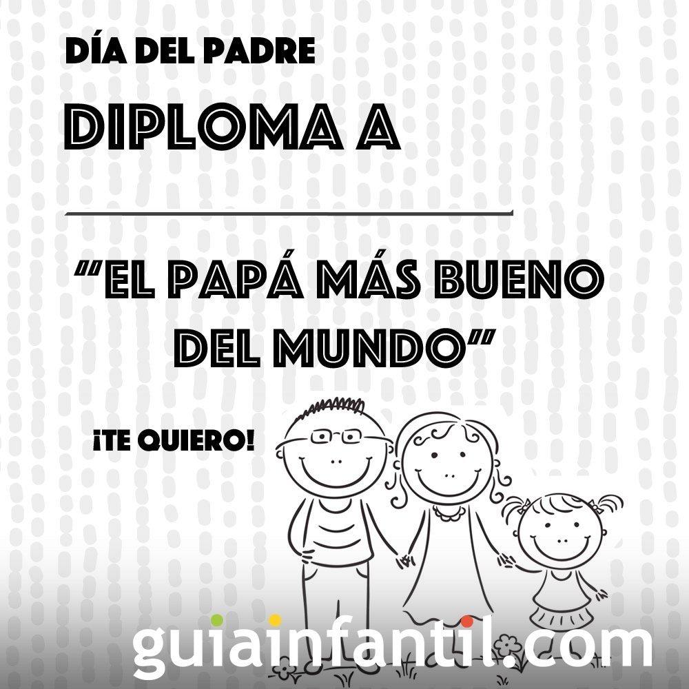 Diplomas Día Del Padre Dibujos Para Colorear Con Niños