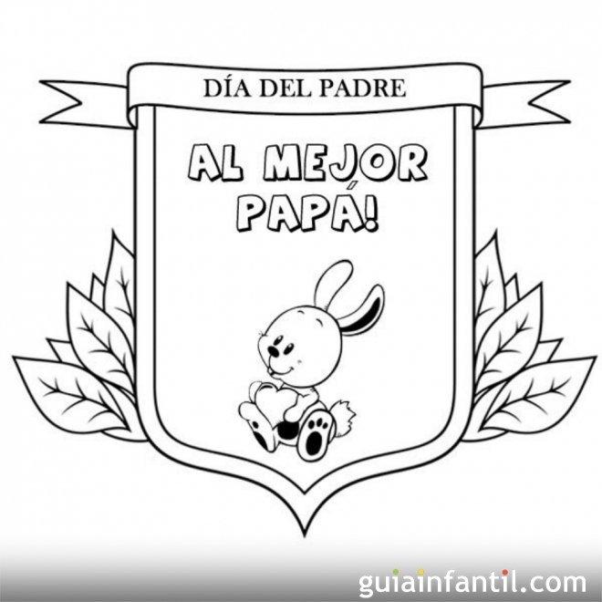 Medalla al mejor papá. Dibujos para colorear