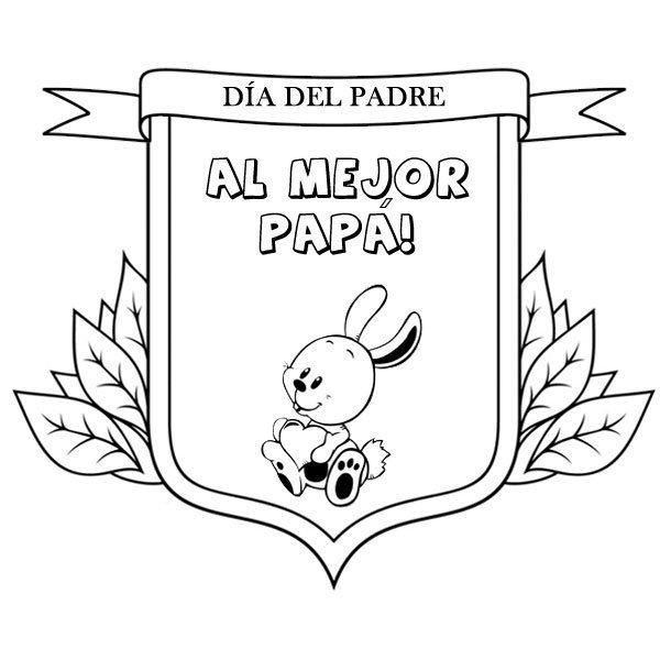Medalla Al Mejor Papá Dibujos Para Colorear