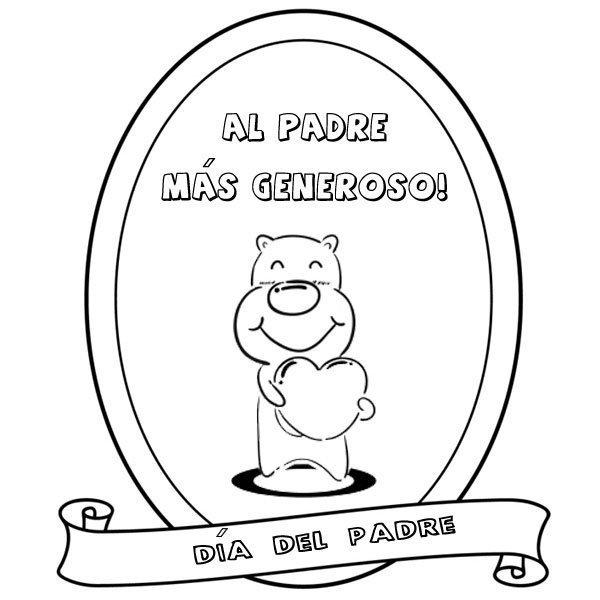 Medalla Al Padre Más Generoso Dibujos Para Pintar