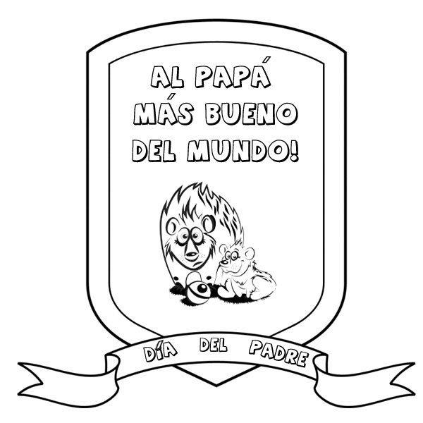 Medalla Al Papá Más Bueno Dibujos Para Colorear