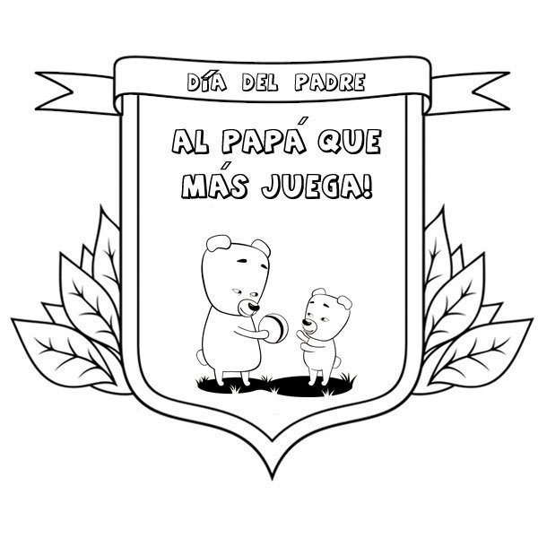Medallas Día Del Padre Dibujos Para Colorear Con Niños
