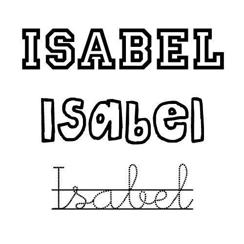 Isabel. Nombres para niñas