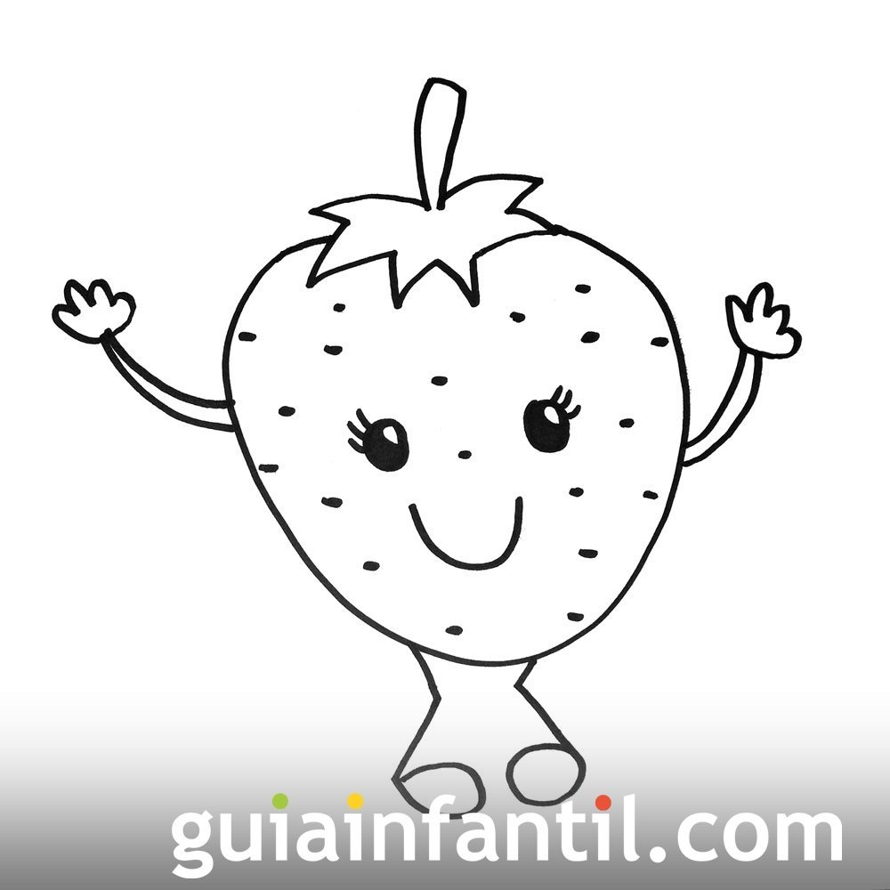 Imagen De Una Fresa Dibujos Para Colorear Con Niños