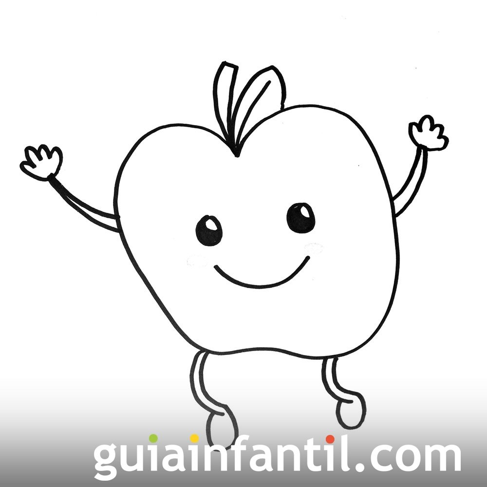 Imagen De Una Manzana Dibujos Para Colorear Con Niños
