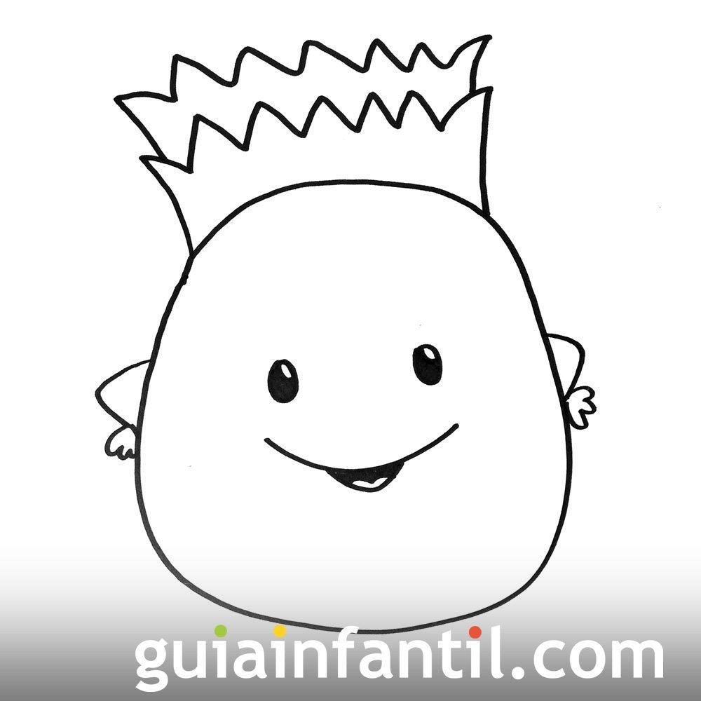 Imagen se una piña. Dibujos para colorear con niños