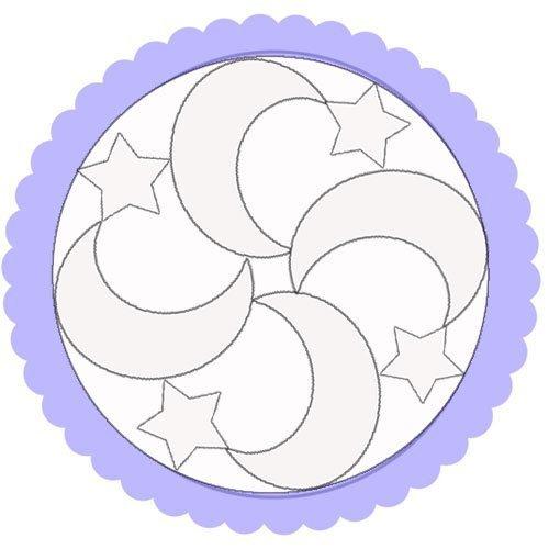 Dibujo de un mandala de lunas para colorear
