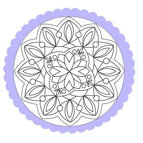 Dibujo De Un Mandala De Flores Y Formas Para Pintar