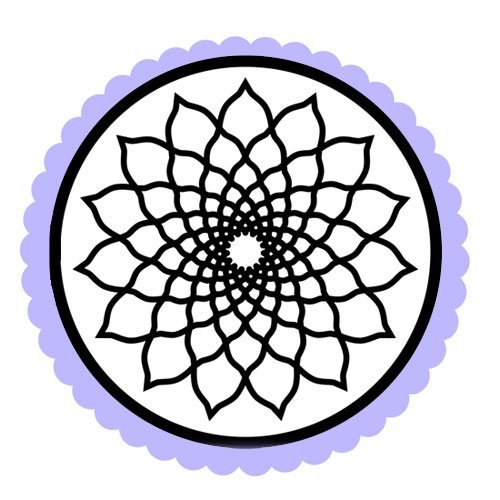 Dibujo de un mandala de formas y líneas para colorear