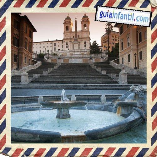 Plaza de España. Viajar a Roma con los niños
