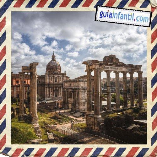 Foro romano. Viajar a Roma con los niños
