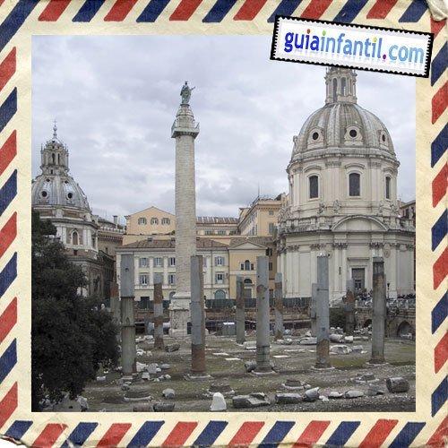 Foro de Trajano. Viajar a Roma con los niños