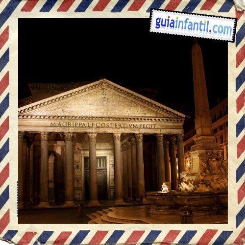 El Panteon. Viajar a Roma con los niños