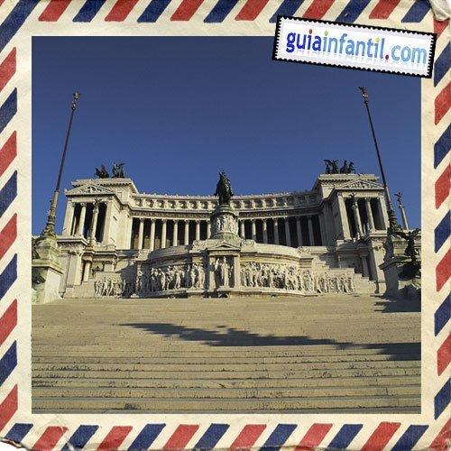 Monumento a Víctor Manuel II. Viajar a Roma con niños