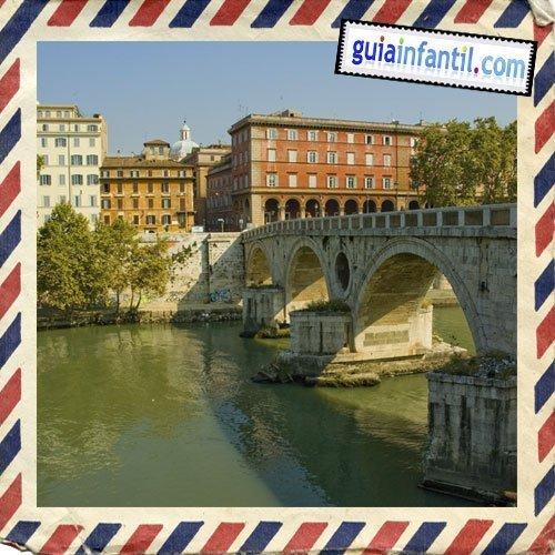 Trastévere y Puente de Sisto. Viajar en Roma con los niños