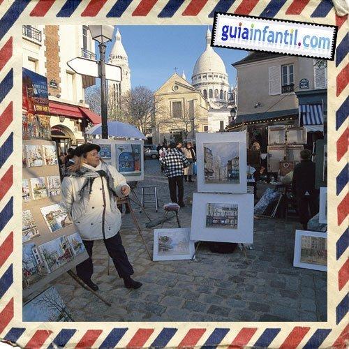 Barrio de Montmartre. Viajar a París con los niños