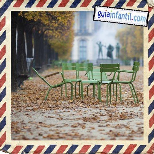 Jardín de las Tullerías. Viajar a París con los niños