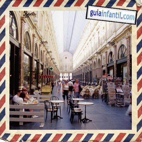 Galerías de Saint Hubert. Viajar a Bruselas con los niños