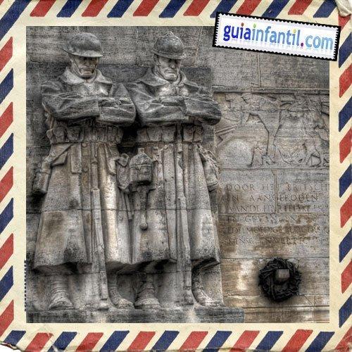 Monumentos de la Primera Guerra Mundial. Viajar a Bruselas con niños