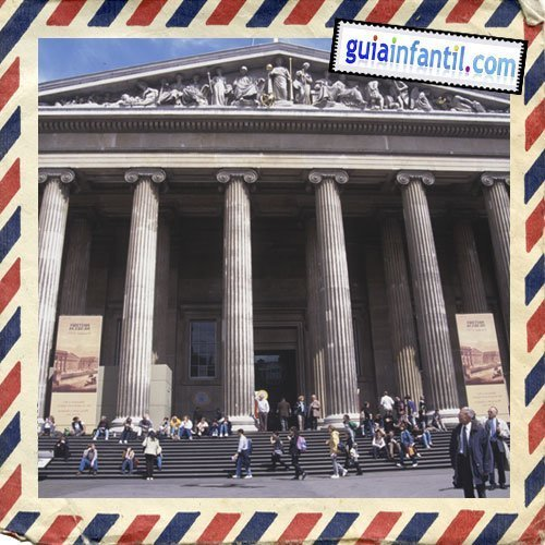 Museo Británico. Viajar a Londres con los niños