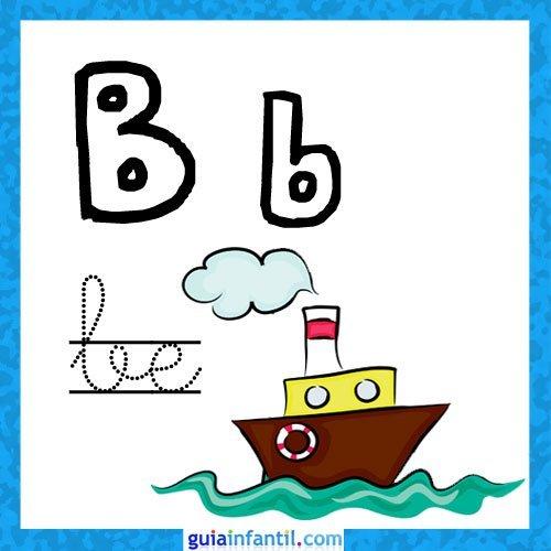 letra b fichas con el abecedario para niños