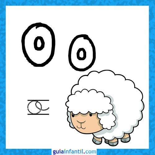 Letra O. Fichas con el abecedario para niños