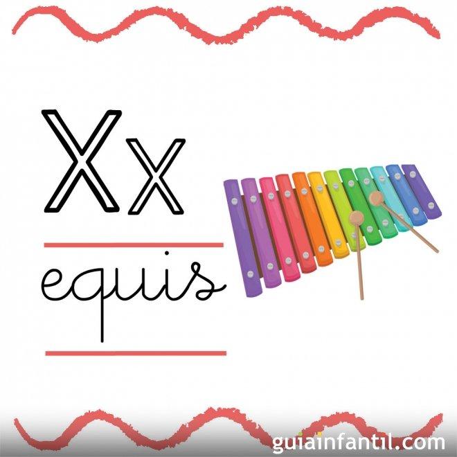 Letra x fichas con el abecedario para ni os fichas con - Literas pequenas para ninos ...