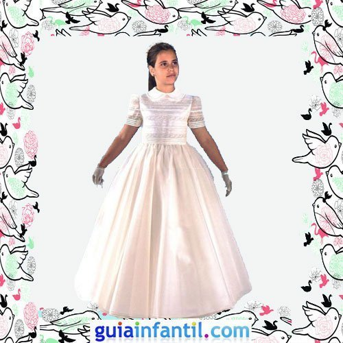 Vestidos de comunion de falda lisa