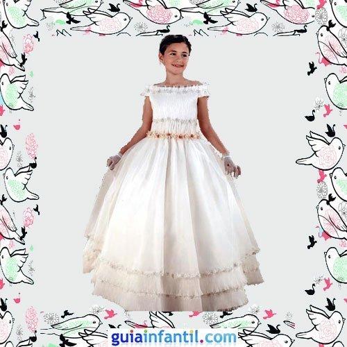 Vestidos Primera Comunión niñas. Modelo clásico romántico