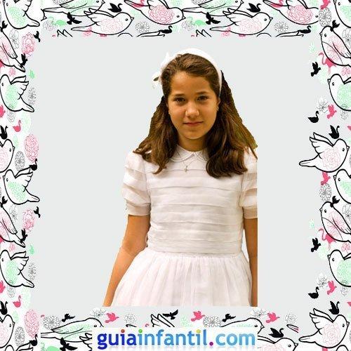 Vestidos Primera Comunión niñas. Modelo clásico de jaretas