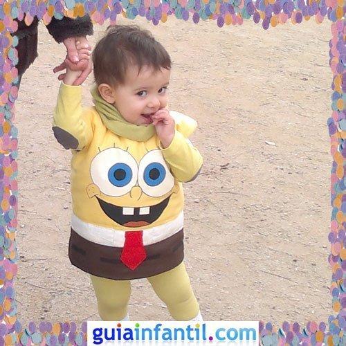 Concurso de Carnaval de Guiainfantil.com. Disfraz de Bob Esponja