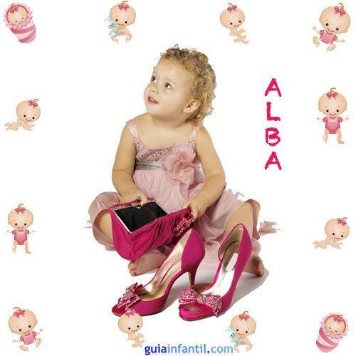 Los nombres de niñas más populares. Alba