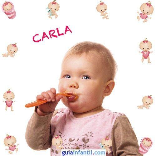 Los nombres de niñas más populares. Carla