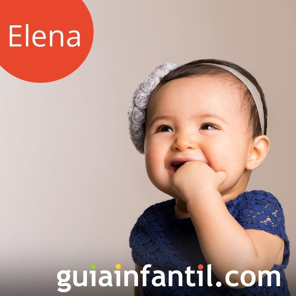 Los nombres de niñas más populares. Elena