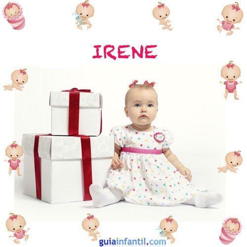 Los nombres de niñas más populares. Irene