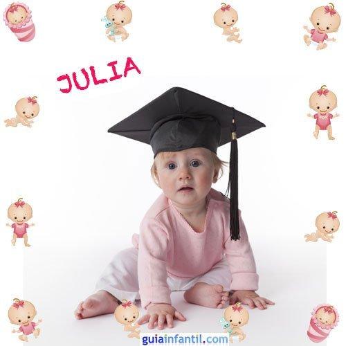 Los nombres de niñas más populares. Julia