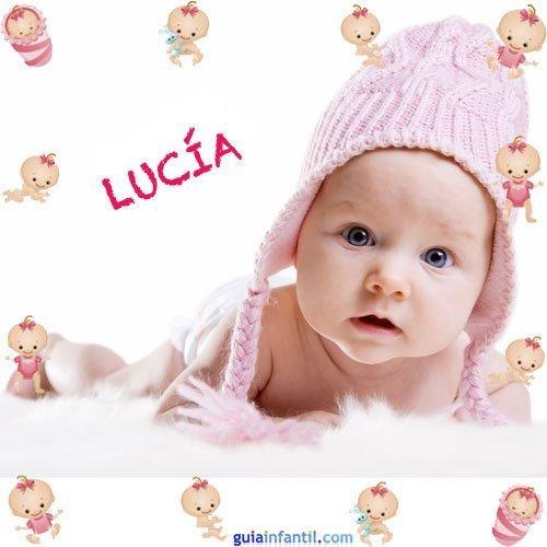 Los nombres de niñas más populares. Lucía