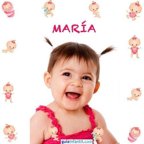 Los nombres de niñas más populares. María
