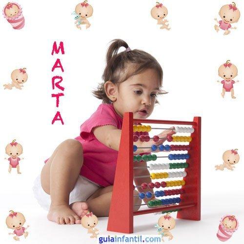 Los nombres de niñas más populares. Marta