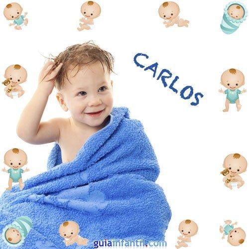 Los nombres de niños más populares. Carlos