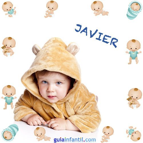 Los nombres de niños más populares. Javier