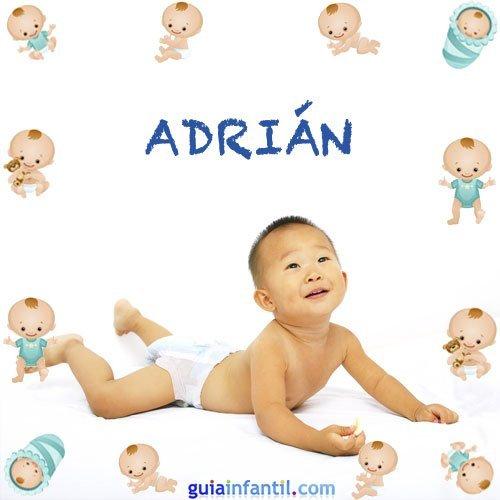 Los nombres de niños más populares. Adrián