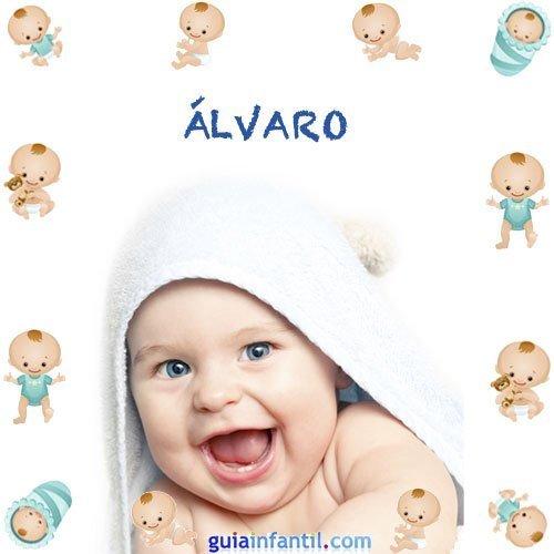 Los nombres de niños más populares. Álvaro