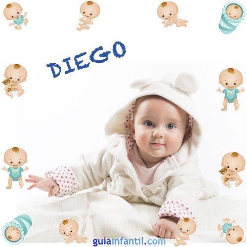 Los nombres de niños más populares. Diego